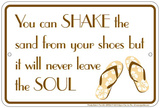 Shake the Sand Tin Sign Plakietka emaliowana