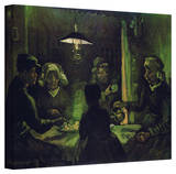 Vincent van Gogh 'The Potato Eaters' Wrapped Canvas Art Stretched Canvas Print by Vincent van Gogh