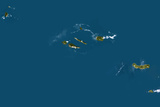 Satellite Image of Azores Islands, Portugalraciosa, Terceira, Sao Miguel and Santa Maria Photographic Print