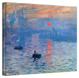 Claude Monet 'Sunrise' Wrapped Canvas Stretched Canvas Print by Claude Monet