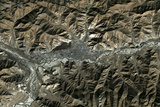 Satellite Image of Lhasa, Tibet Photographic Print