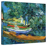 Vincent van Gogh 'Bank of The Oise at Auver' Wrapped Canvas Art Stretched Canvas Print by Vincent van Gogh