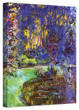 Claude Monet 'Giverny' Gallery Wrapped Canvas Stretched Canvas Print by Claude Monet