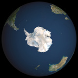 Satellite Image of Antarctica Photographic Print