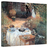 Claude Monet 'Garden Picnic' Gallery Wrapped Canvas Stretched Canvas Print by Claude Monet