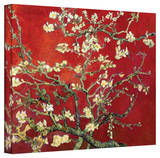 Vincent van Gogh 'Red Blossoming Almond Tree' Canvas Stretched Canvas Print by Vincent van Gogh
