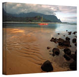 Kathy Yates 'Hanalei Bay at Dawn' Canvas Art Stretched Canvas Print by Kathy Yates