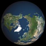 Satellite Image of North Pole Photographic Print