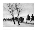 WW1 Horse Drawn Supply Column Giclee Print
