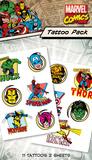 Marvel Tattoo Pack Temporary Tattoos