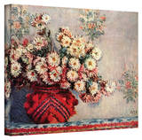 Claude Monet 'Red Vase' Wrapped Canvas Art Stretched Canvas Print by Claude Monet