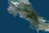 Satellite Image of Costa Rica Photographic Print