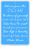 Ocean Advice Tin Sign Tin Sign