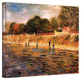 Vincent van Gogh 'Banks of The Seine' Wrapped Canvas Art Stretched Canvas Print by Vincent van Gogh