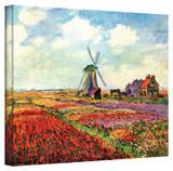 Claude Monet 'Windmill' Wrapped Canvas Art Stretched Canvas Print by Claude Monet