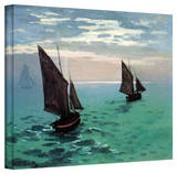 Claude Monet 'Two Sailboats' Gallery Wrapped Canvas Stretched Canvas Print by Claude Monet