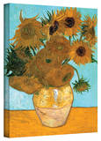 Vincent van Gogh 'Vase with Twelve Sunflowers' Wrapped Canvas Art Stretched Canvas Print by Vincent van Gogh