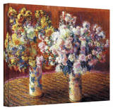 Claude Monet 'Two Vases' Wrapped Canvas Art Gallery Wrapped Canvas by Claude Monet