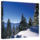 Kathy Yates 'Lake Tahoe in Winter' Canvas Art Stretched Canvas Print by Kathy Yates
