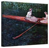 Claude Monet 'Canoe' Wrapped Canvas Art Stretched Canvas Print by Claude Monet