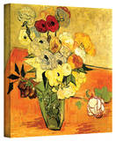 Vincent van Gogh 'Japanese Vase with Roses and Anemones' Wrapped Canvas Art Gallery Wrapped Canvas by Vincent van Gogh