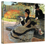 Claude Monet 'Park Bench' Wrapped Canvas Art Stretched Canvas Print by Claude Monet