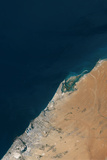Satellite Image of Dubai Photographic Print