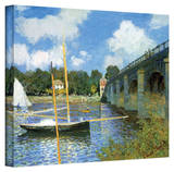 Claude Monet 'The Argenteuil Bridge' Wrapped Canvas Stretched Canvas Print by Claude Monet