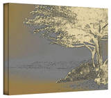 Linda Parker 'Tree on Beach' Gallery-Wrapped Canvas Stretched Canvas Print by Linda Parker