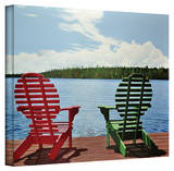 Ken Kirsch 'Dockside' Wrapped Canvas Gallery Wrapped Canvas by Ken Kirsch