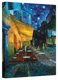 Vincent van Gogh 'Cafe Terrace at Night' Wrapped Canvas Stretched Canvas Print by Vincent van Gogh