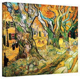 Vincent van Gogh 'The Road Menders' Wrapped Canvas Art Stretched Canvas Print by Vincent van Gogh