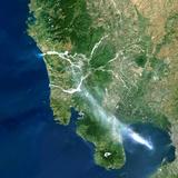 Satellite Image of Pinatubo Volcano, Philippines Photographic Print