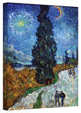 Vincent van Gogh 'Country Road in Provence by Night' Gallery Wrapped Canvas Stretched Canvas Print by Vincent van Gogh