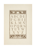 Letters Of the Alphabet. the Golden Primer Giclee Print by Walter Crane