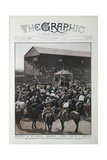 Coloured Photograph Of Roosevelt Addressing a Cowboy Carnival at Cheyenne Giclee Print