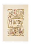 Rhyming Words Ending in the Letter L. Ploughing. a Stork. the Golden Primer Giclee Print by Walter Crane