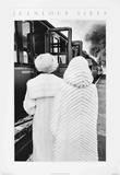 Two Women in Fur Coats Samlertryk af Jeanloup Sieff