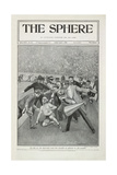 The End Of the Marathon Race - the Collapse Of Dorando in the Stadium'. the 1908 Olympic Games Giclée-trykk