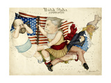 Cartoon Map Depicting the US Presidential Election Of 1880. the Outline Is Of the United States Giclee Print by Lilian Lancaster