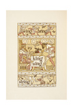 Rhyming Words Ending in the Letter G. Blackbirds in a Pie. a Washing Line. the Golden Primer. Giclee Print by Walter Crane