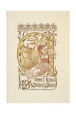 Rhyming Words Ending in the Letter S. a Woman Holding a Face Mirror. the Golden Primer. Giclee Print by Walter Crane