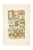 Rhyming Words Ending in the Letter D. a Boy Dressed As a Soldier. a Scotsman. a Jockey Giclee Print by Walter Crane