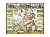 Leo Hollandicus' by Nicolas Visscher.A Map Of Holland Giclee Print by  Visscher