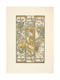 Rhyming Words Ending in the Letter E. the Golden Primer Giclee Print by Walter Crane