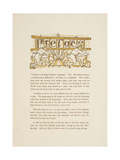 Preface To the Golden Primer. Two Children Carrying a Ladder Giclee Print by Walter Crane