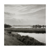River Running Through Flat Landscape Giclee Print by Fay Godwin