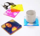 CMYK Color Print Mona Lisa Coaster Set Coaster