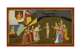 Rishyasringa Enters the City Giclee Print