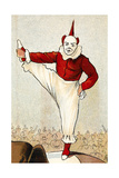 A Clown Standing On One Leg Giclee Print